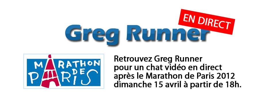 Greg Runner Live Marathon de Paris 2012
