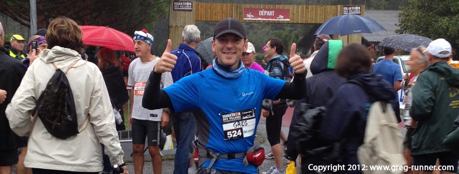 Marathon des villages 2012: recit de course