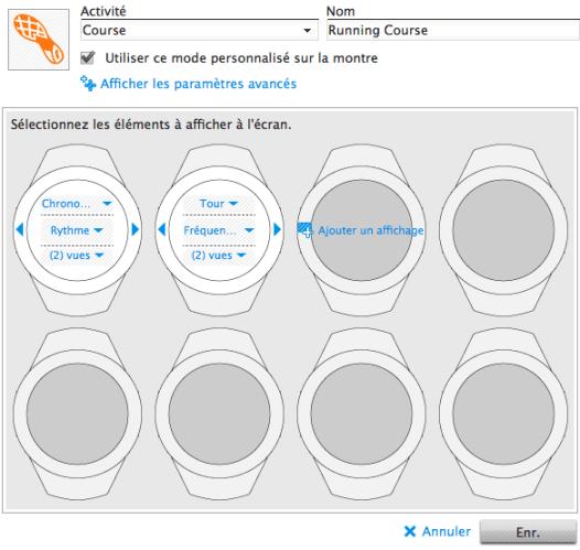 Paramétrage des écrans de la Suunto Ambit avec Movescount