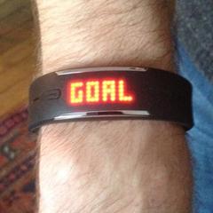 Bracelet Loop de Polar: affichage de l'objectif atteint - goal