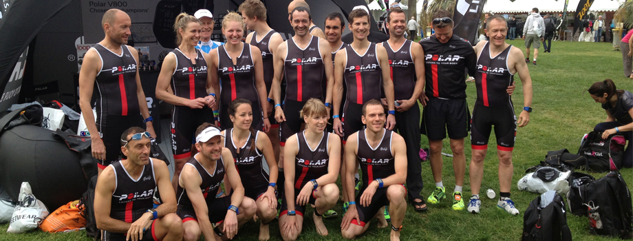 Triathlon de cannes 2014: la Team Polar
