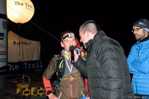 Interview d'arrivée du trail de Yonne 85km avec Harry Bignon