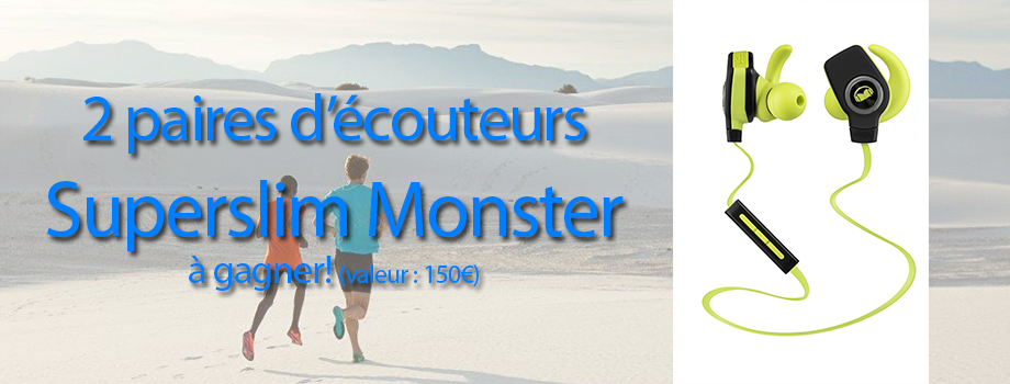 Ecouteurs Superslim Monster Isport