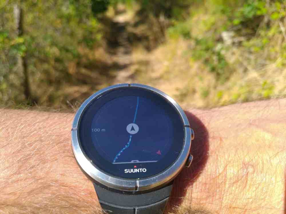 Suunto Spartan Ultra - navigation: vue cartographique