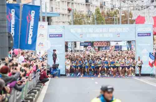 Départ du semi-marathon de Usti nad labem