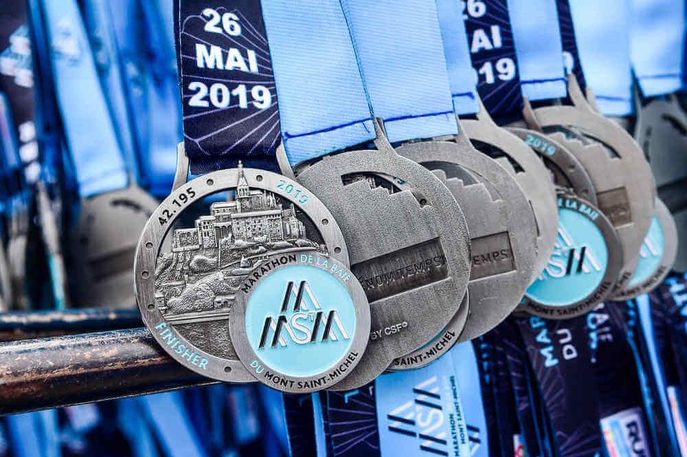 Médailles du Marathon de Mont SAint-Michel 2019