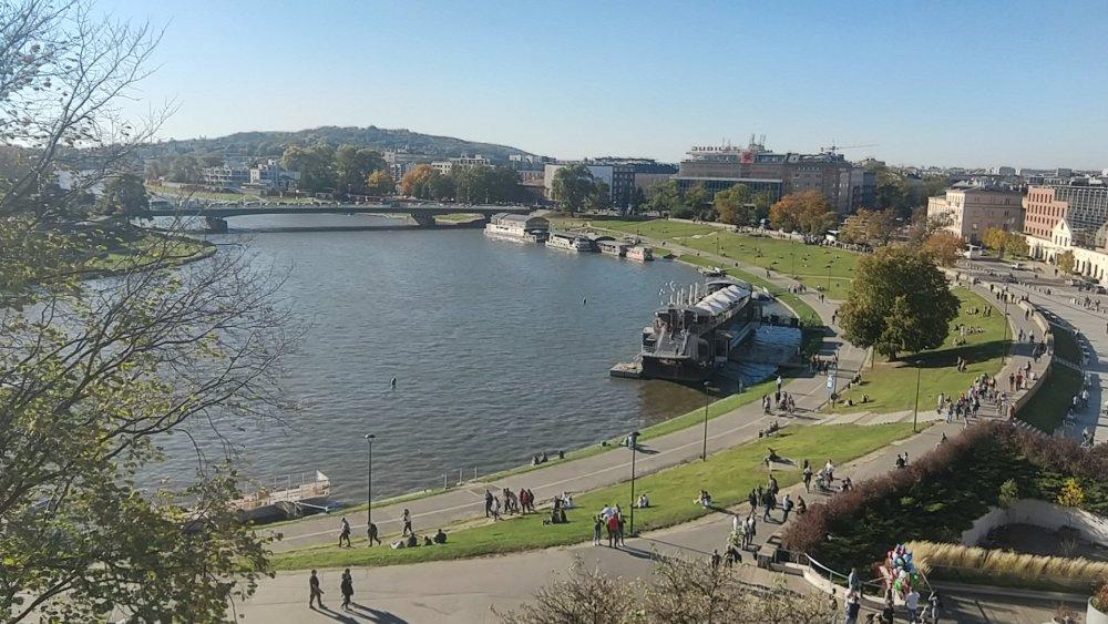 La Vistule, fleuve principal polonais traversant Cracovie