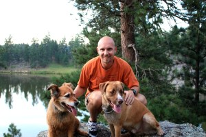 Luke, Bailey and Mark Kreuzer Trail Runners