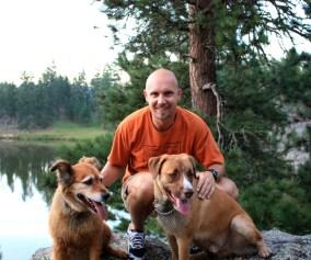 Luke, Bailey and Mark Kreuzer Trail Runners