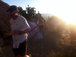 Lara Running the Desert RATS 25 mile race