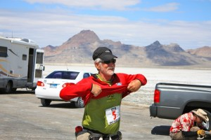 Runner number 5 finishing the Salt Flats 100