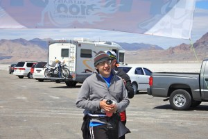 Another Runner finishing the Salt Flats 100
