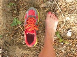 Montrail Bajada shoe and foot picture
