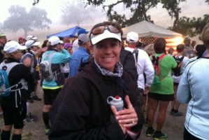 Pic of Carilyn Johnson at the Start of Born to Run Ultra Marathon