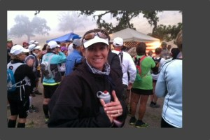 Picture of Carilyn Johnson at the Starting Line of Born to Run Ultra Marathon
