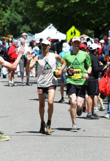 Picture of Yassine Diboun and pacer at Western States 100