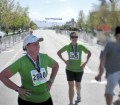 Picture of Craig Lloyd's mom finishing her first marathon DFL
