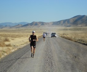 picture of craig lloyd running the pony express 100 in 2011