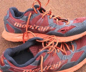 Full image of worn out Montrail Bajada Trail Shoes