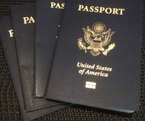 pic of passports for carilyn johnson's travel