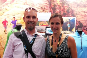 picture of mark kreuzer and krissy moehl at the patagonia booth