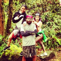 Picture of Robin Arzon and friends on a trail run