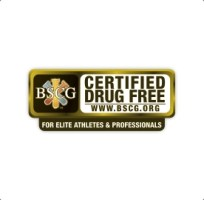 picture of the logo for the BSCG certified drug free product