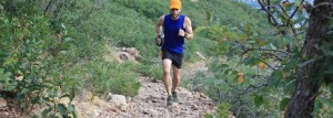 picture of aaron williams running on top of rocks mount olympus salt lake city utah