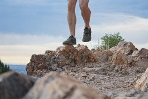 picture of running across rocks at mount olympus salt lake city utah