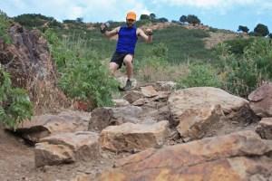 picture of aaron williams running on top of rocks mount olympus salt lake city utah