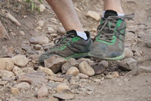 picture of altra shoe running on top of rocks mount olympus salt lake city utah