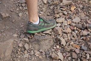 picture of altra shoe running on top of rocks mount olympus salt lake city utah