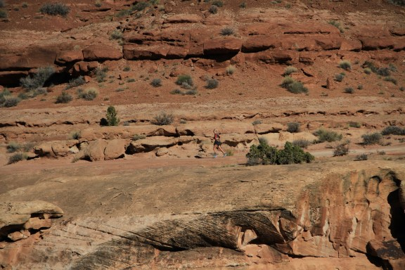 Running the White Rim Trail near Moab, Utah