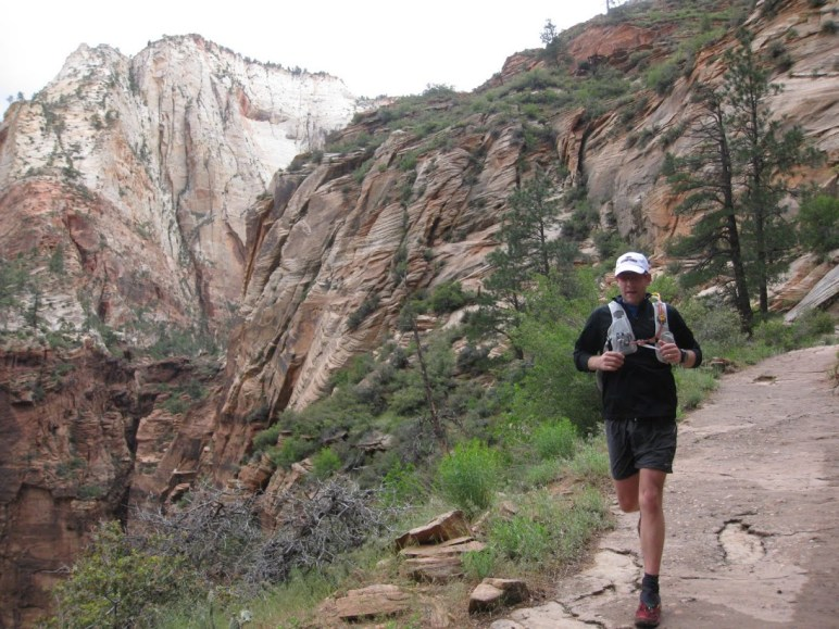Matt Williams running through Zion National Park