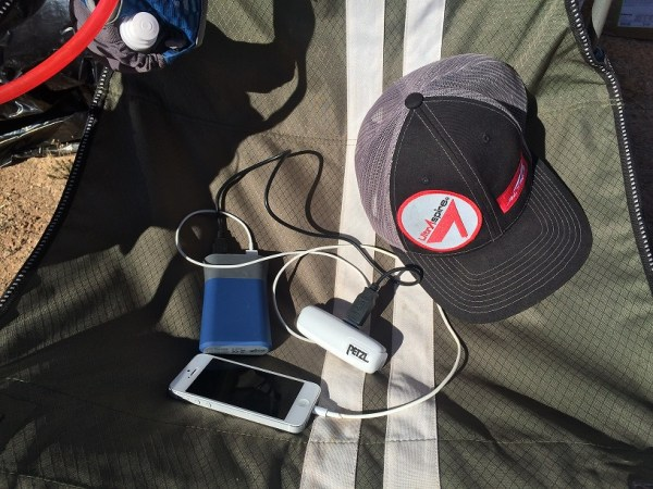 iFrogs 9000mAh charging multiple devices on the trail
