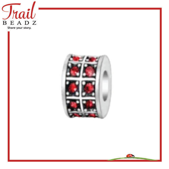Red Crystal Spacer Beadz