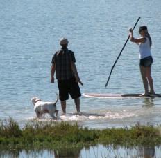 dog-man-girl-on-paddle