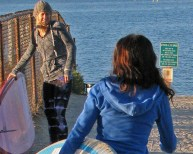 Sara & friend lagoonclose