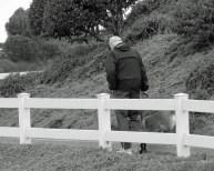 Grant walking Max