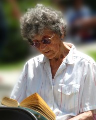 woman reading waiting