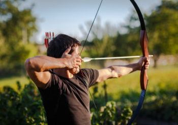 archery student practicing