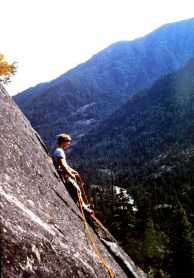 Sep 1978: Climbing Givlers Crack In Icicle Canyon