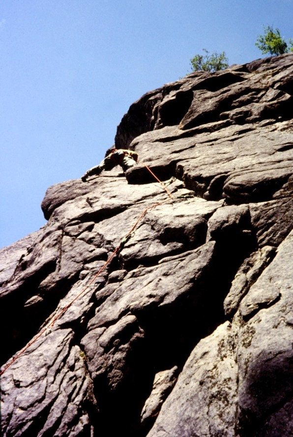 May 1979: Climbing Century Route At Castle Rock