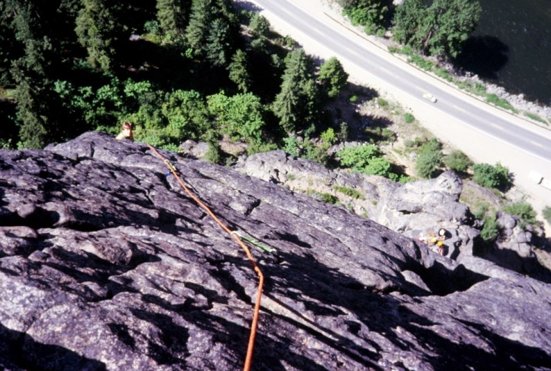 Apr 1979: Climbing Upper Face Of Castle Rock In Tumwater Canyon