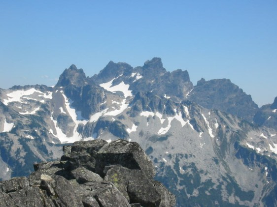Overcoat Peak and Chimney Rock