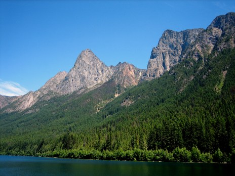 North and Southwest Peaks From Hozomeen Lake