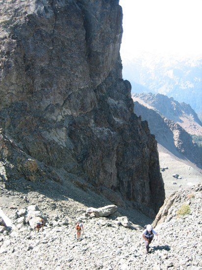 Scrambling Up From Surprise Col