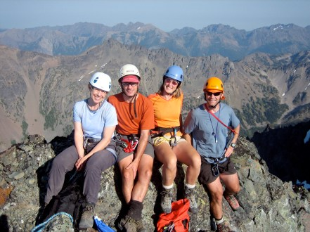 Suzanne, Steve, Eileen, and Kevin On Summit