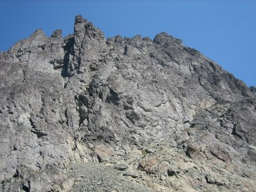 West Face Of Mt Clark From Col
