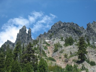 West and Middle Queen From Talus